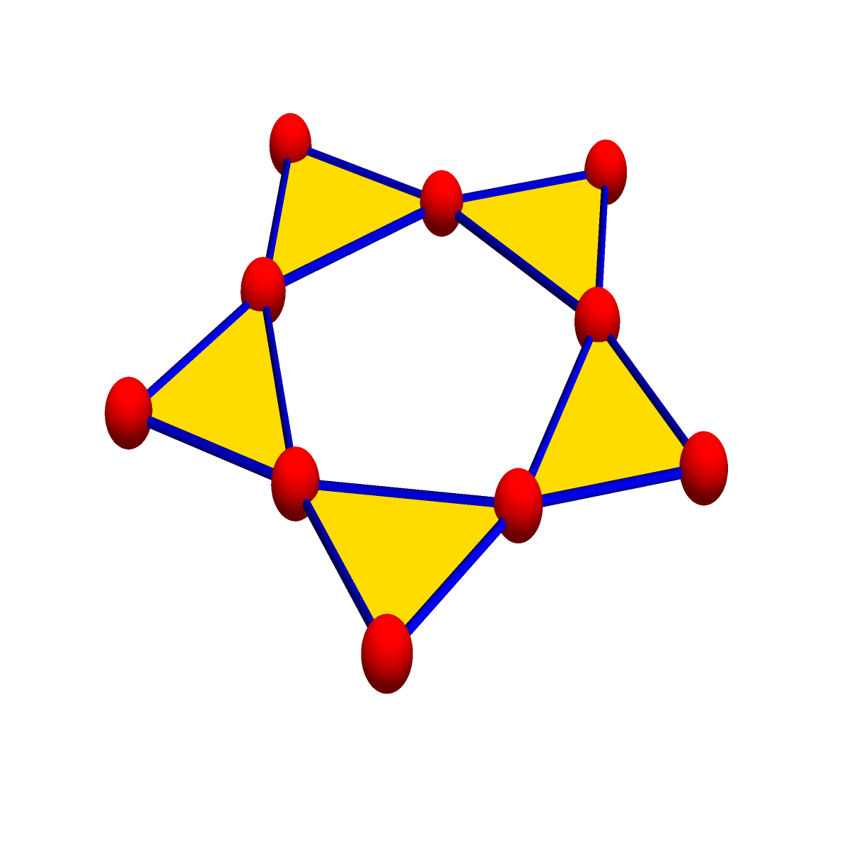 The connection graph to the cyclic graph with 5 vertices