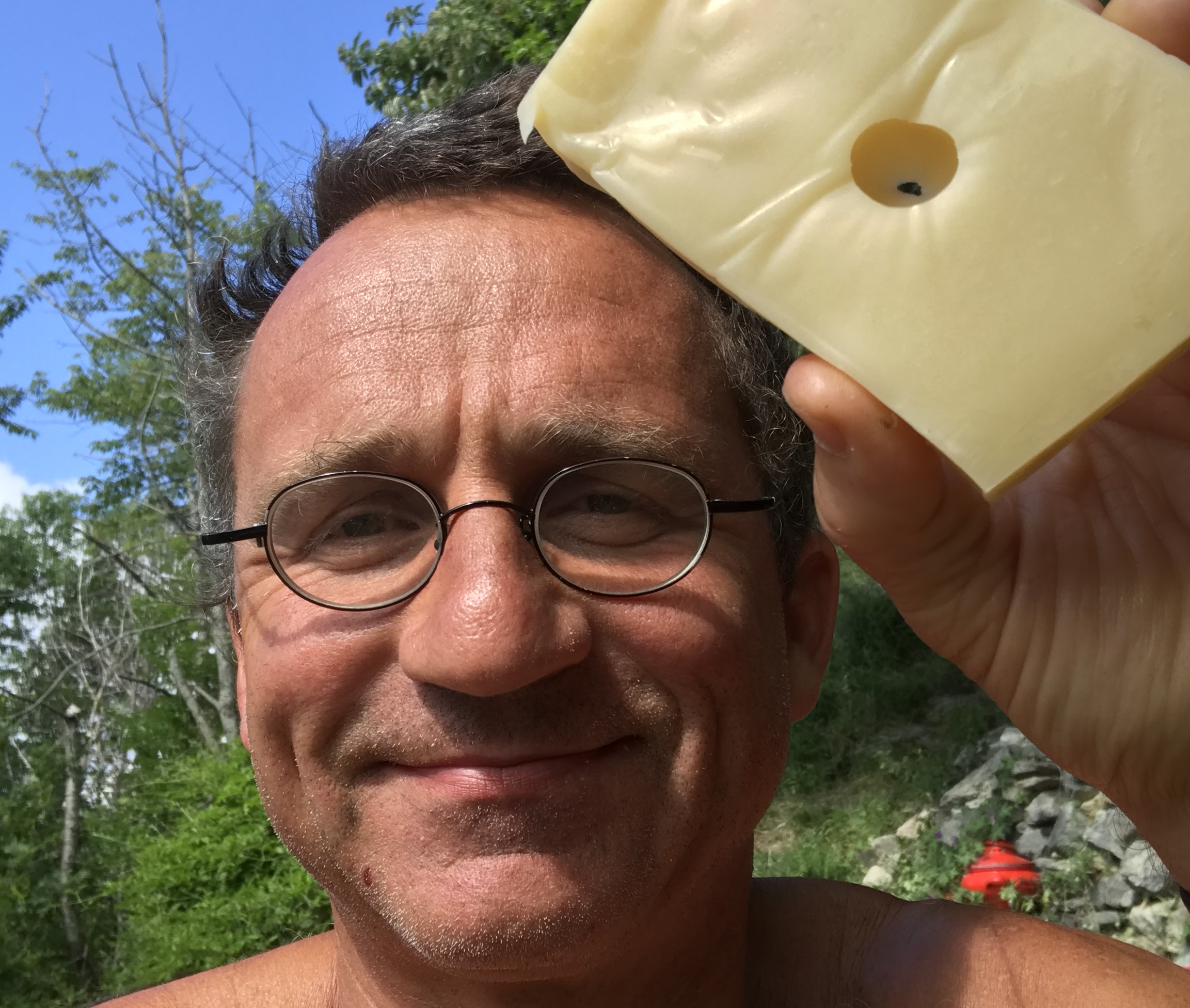 Swiss cheese proof. Picture taken in Switzerland on Salmenfee in the Swiss alps, where the proof was finalized